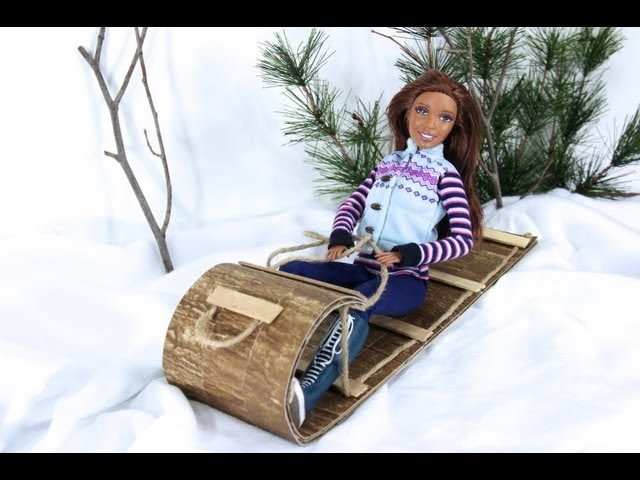 How to Make a Doll Sled - Doll Crafts