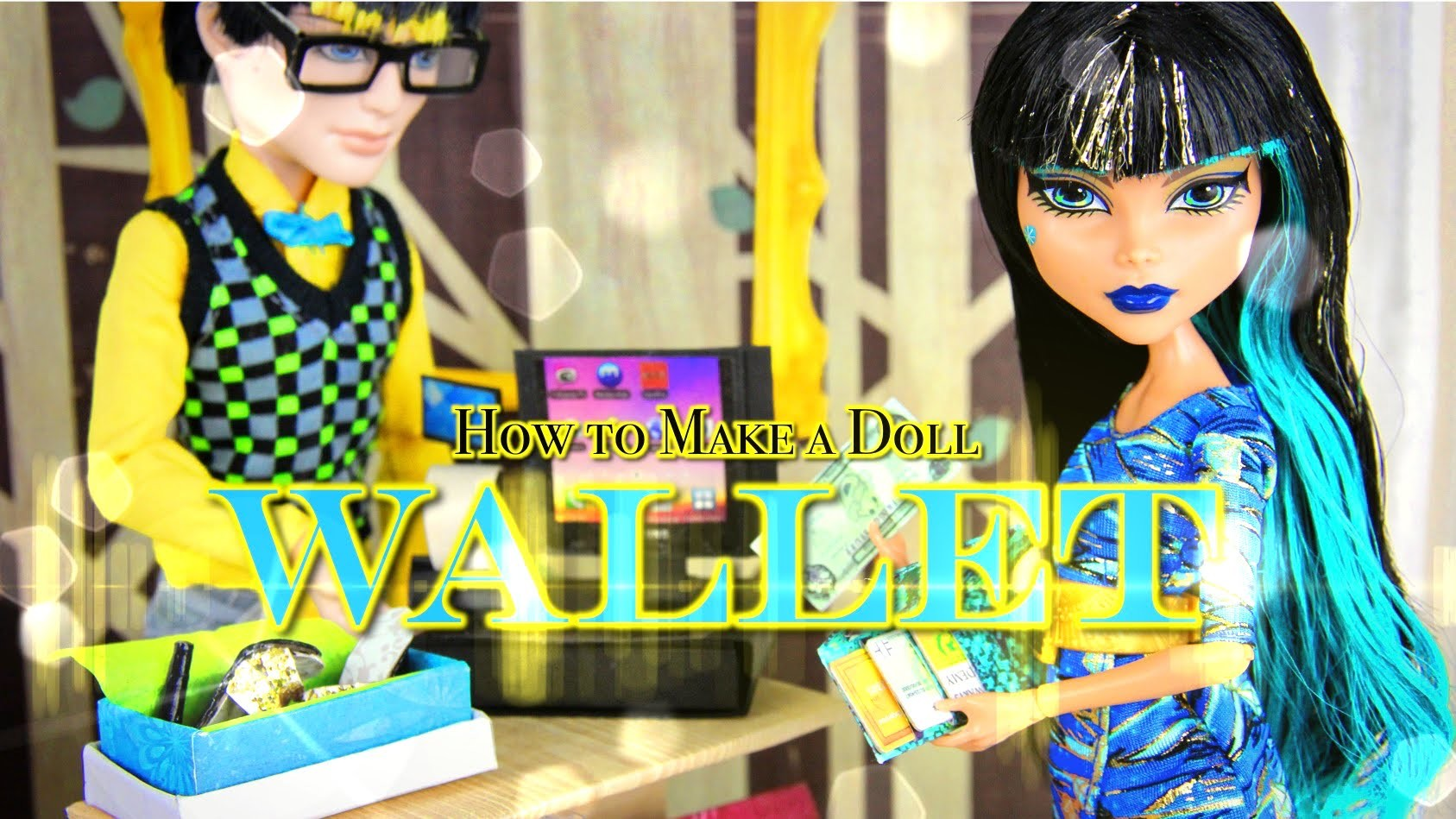 How to Make a Doll Wallet | plus Accessories - Doll Crafts