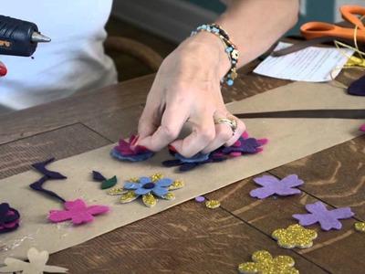 How to Make a Felt Flower Bib Necklace : Felt Crafts & More