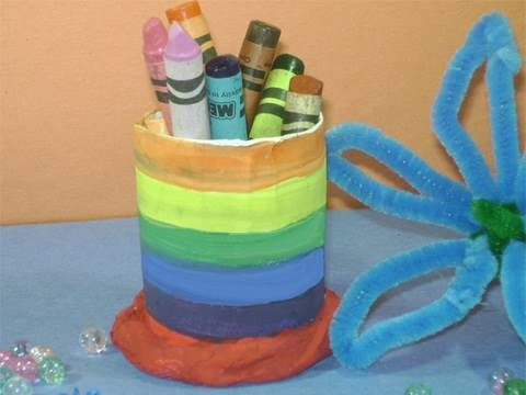 How to make a simple pencil holder with a tp tube - EP