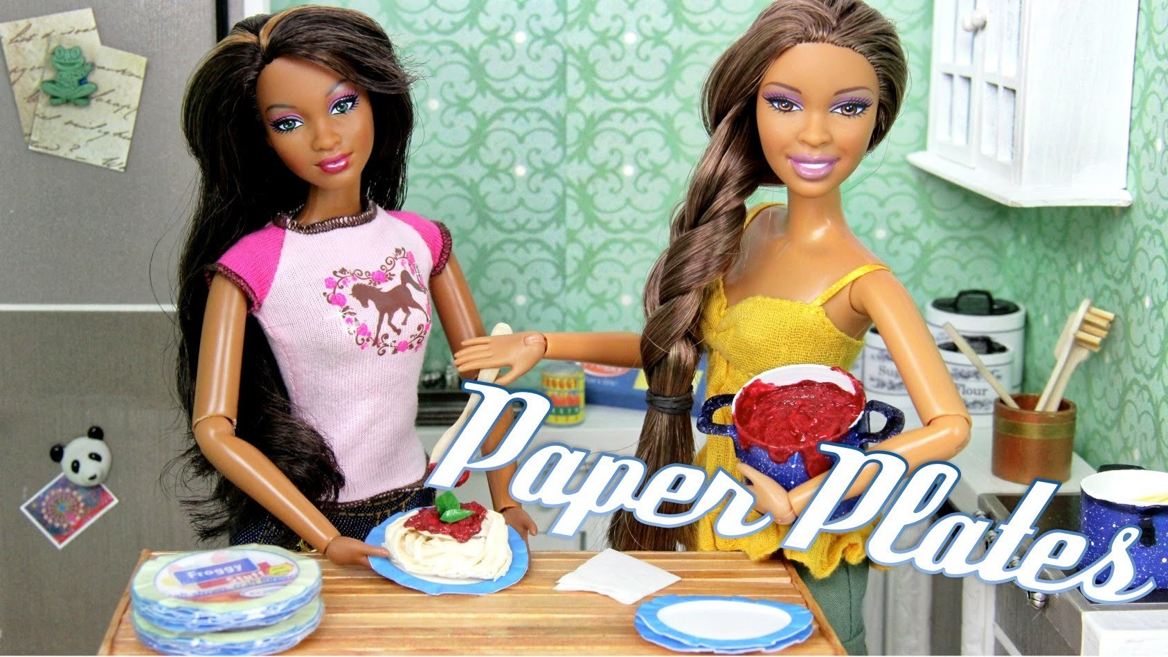 How to Make: Doll Paper Plates   Plus Fun Finds - Doll Crafts