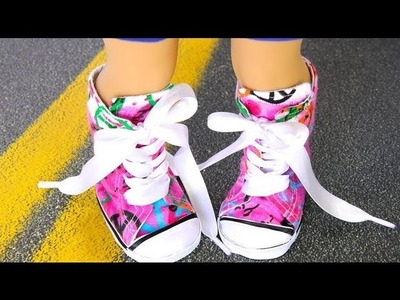How to Make Doll Shoes: 18 inch Resize : Sneakers | Plus American Girl Mini Doll Collection Update