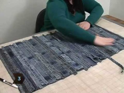 How to Turn Old Jeans into a Floor Mat