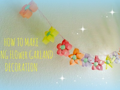 *Kids Crafts*: Colorful Flower Garland for Party Decorations