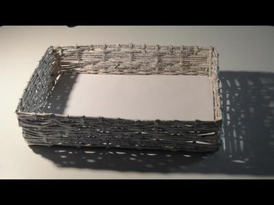 Košík z papírových ruliček - diy - (Basket of paper rolls)