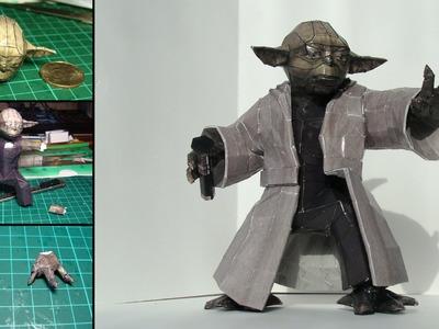 Master Yoda Papercraft (Stop-motion assembly video)