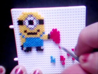 Minions Corazon hama beads mini