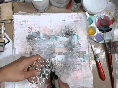 Mixed Media Layout Tutorial - 7 Dots Studio