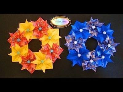 Origami Maniacs 93: Beautiful Christmas Wreath. .