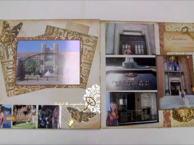 Power Scrapbooking Layouts Video 7:  School, Family and Christmas 12x24 Pages