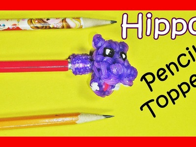 Rainbow Loom HIPPO Pencil Topper