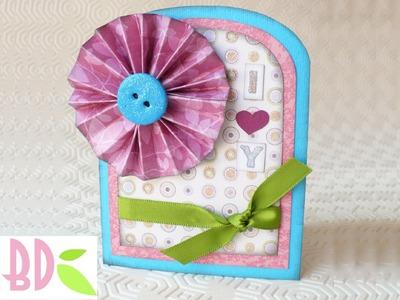 Scrapbooking tutorial: Card Primavera I Love You - I Love You Spring Card