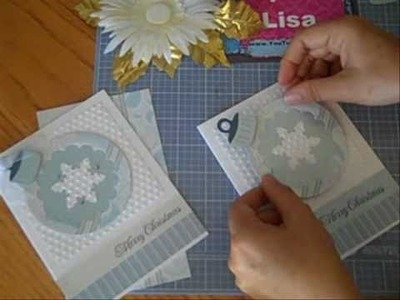 SYS #5 - Sizzix Blue Ornament Christmas Card