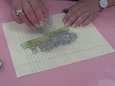 Tim Holtz Die Cut & Stampendous Crushed Glitter Demo - Oh My Crafts