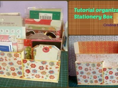 Tutorial - organizador con cartulina scrapbook. Stationery Box