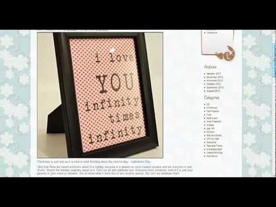 Valentine Craft - An Easy Valentine Project with Craft Vinyl