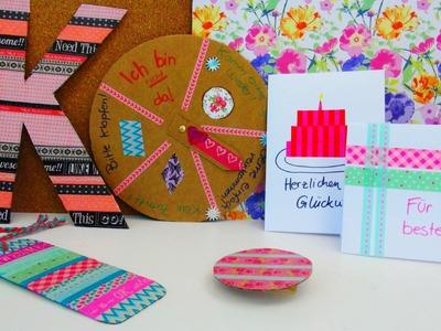 Washi Tape Ideen DIY. 5 Ideen mit Washi Tape. Nützliches zum Dekorieren und verschenken