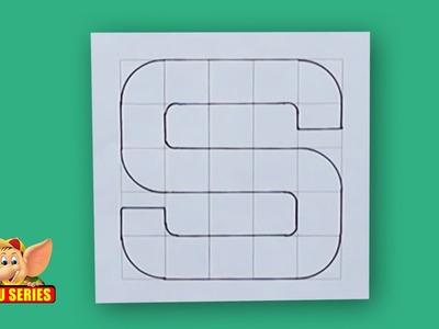 Write Block Style Alphabet 'S'  - Arts & Crafts