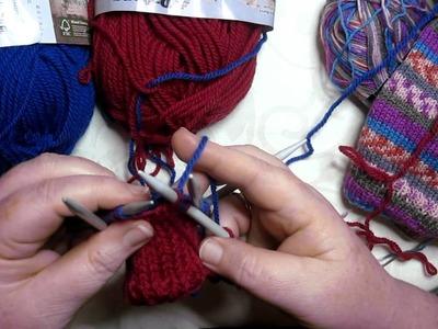 2 in 1 socks on dpns- one inside the other socks on dpns - HEEL FLAPS - 3 of 5