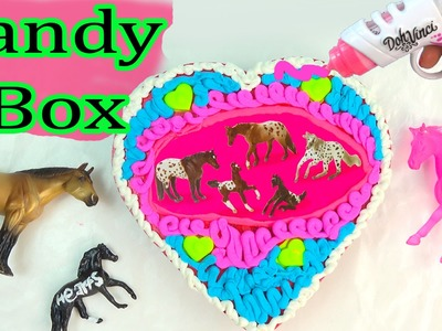 Breyer Horses DIY Frosting Valentines Day Custom Candy Box Breyers Horse Mini Whinnies Dohvinci