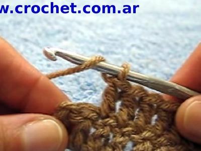 Como aumentar al final de un tejido crochet tutorial paso a paso.