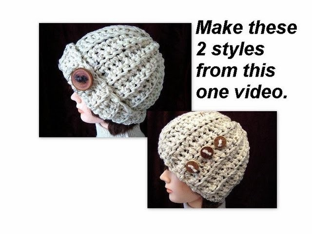 CROCHET A RIBBED HAT, 2 STYLES, accessories, clothing, unisex, beanie, winter, chunky style,