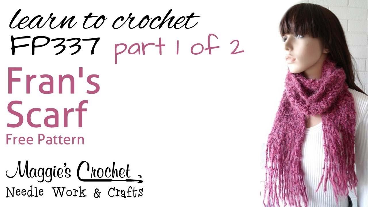 Crochet Scarf Super Easy Part 1 of 2 - Pattern #FP337