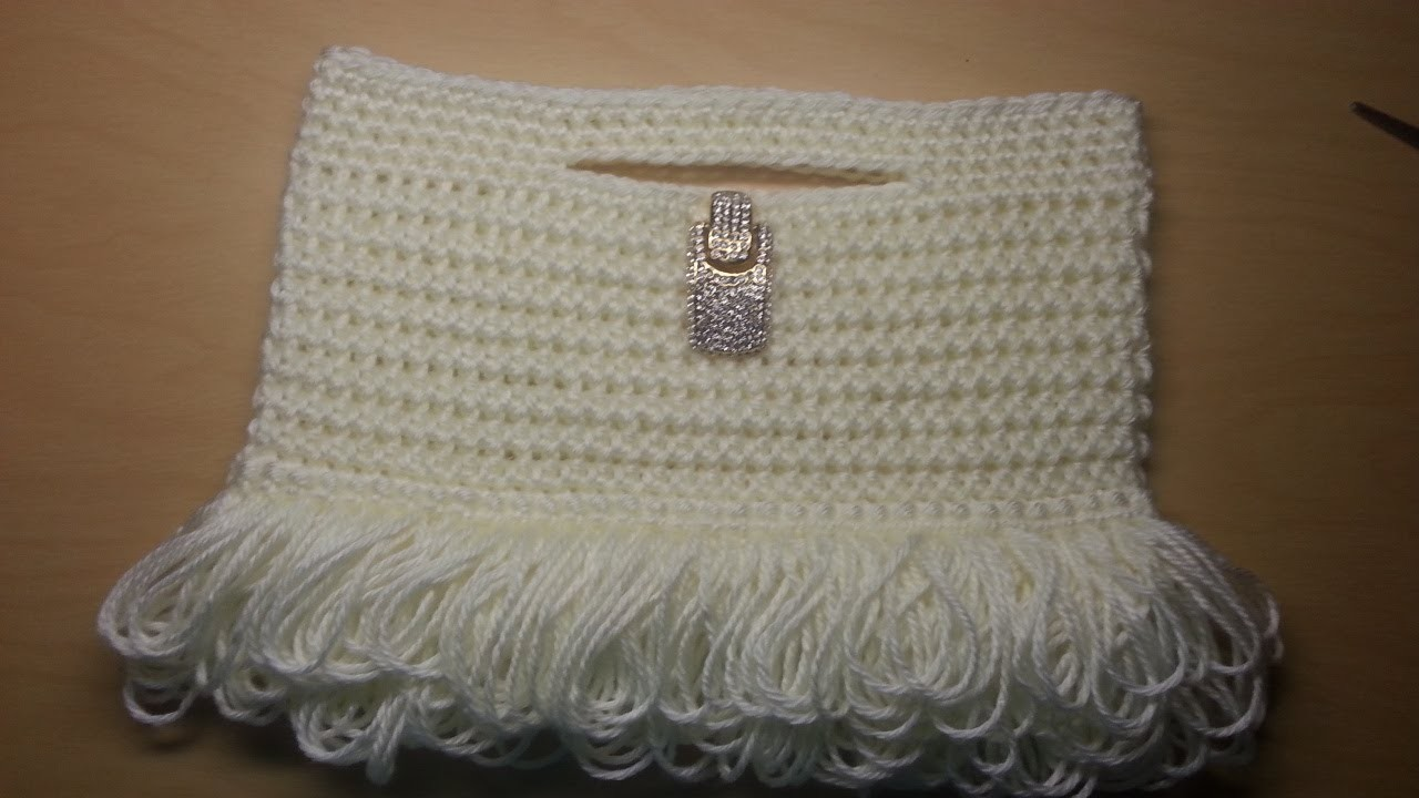 Crochet this cute Loopy Stitch Clutch Handbag DIY Pattern #3