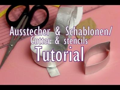DIY Ausstecher und Schablonen für Zuckerblumen. Sugarflower-cutter Tutorial