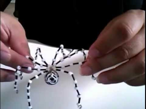 DIY BEADS AND WIRE SPIDER