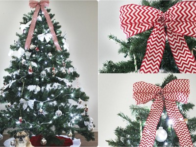 DIY Christmas Tree Bow Topper