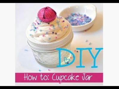 DIY Cupcake Mason Jar.Stocking Stuffer: 12 Days of Crafting