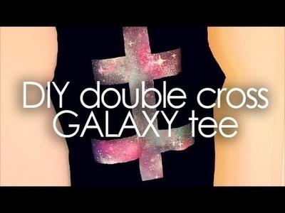 DIY Double cross galaxy tee