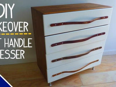 DIY Dresser Makeover w. Leather Belt Handles - Part 1 of 2