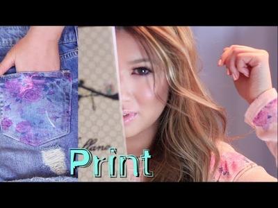 DIY Floral Print | Celine Tee, Pillow, Mouse Pad & Book? ♥