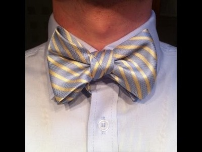 DIY HOW TO MAKE A BOW TIE FROM A TIE