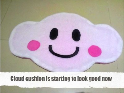 DIY How to make a Cute Cloud Cushion.Pillow
