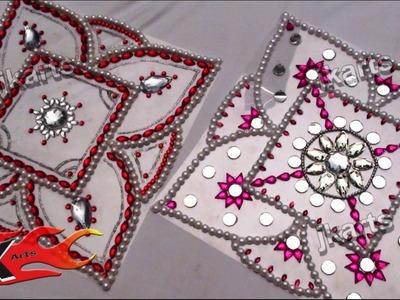 DIY How To Make Kundan Rangoli JK Arts 078