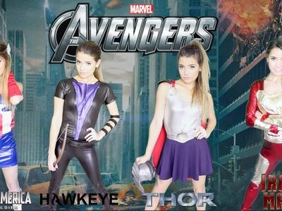 DIY Marvel Avengers Halloween Costumes | Easy Girl Group Costume!