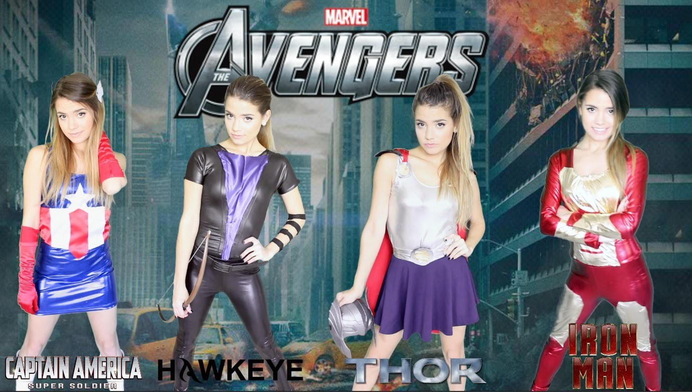 DIY Marvel Avengers Halloween Costumes   Easy Girl Group Costume!