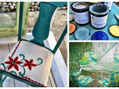 DIY Paint and distress a chair with 3oz of CeCe Caldwell paint