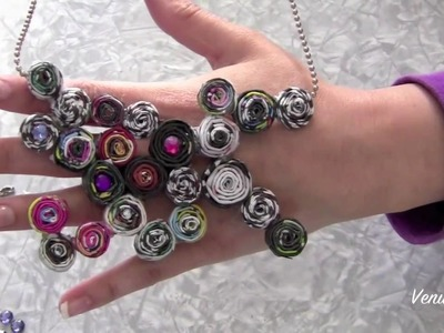 DIY: Recycled magazine Jewelry Made Easy!