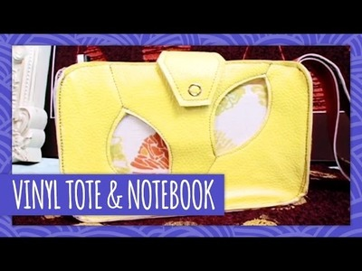 DIY Vinyl Tote Bag & Notebook - Throwback Thursday - HGTV Handmade
