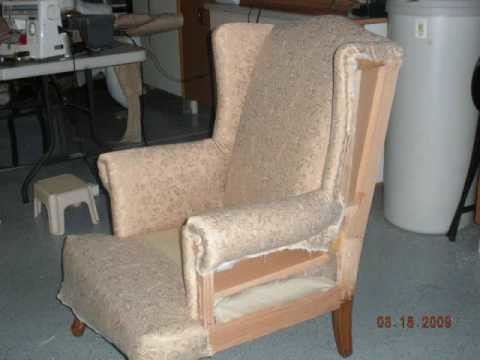 Diy wing chair re-upholster