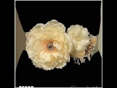 DIY Woodland Boho Lace Flower Bridal Sash Belt