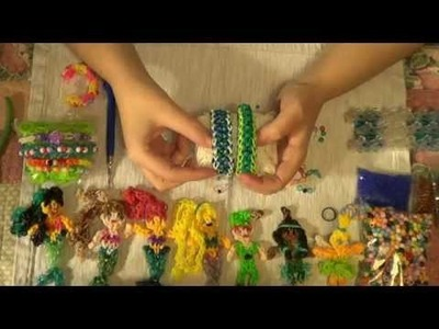 EASY How To Add Beads To Rubber Bands- Rainbow Loom Tutorial
