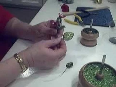 French Beading a Leaf Tutorial - Part 2