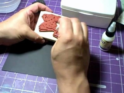 Gilding with Rubber Stamps and Duo Adhesive from USArtQuest