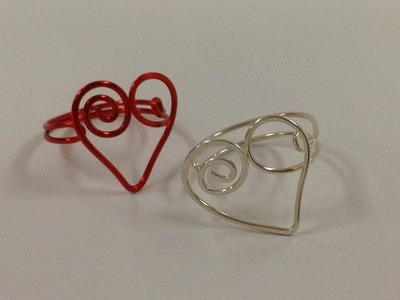 Heart Shape Ring For Valentine By BeaDazzle Bead Shop