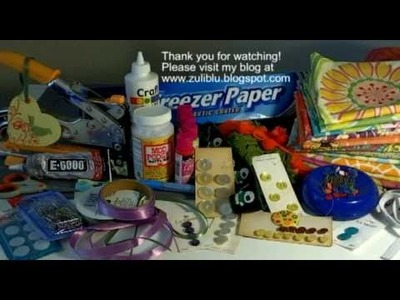 How to Attach a Grommet to make a gift tag & My favorite Craft Supplies Day 7